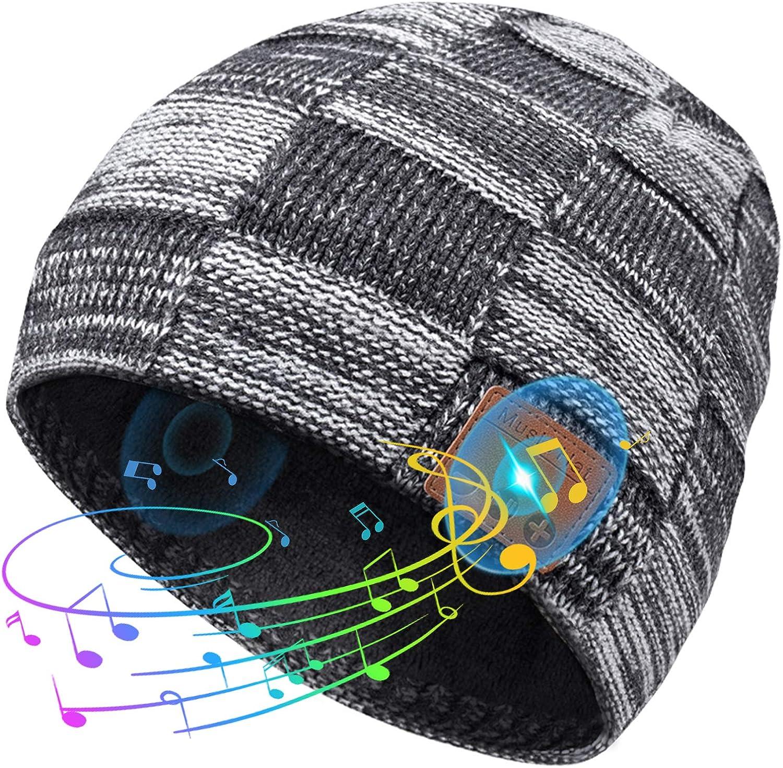 Regalos Originales para Hombre Gorro Bluetooth - Regalos Navidad Originales para Hombre Mujer Gorro con Bluetooth 5.0, Amigo Invisible Regalos Originales Música Gorro Invierno Micrófono Incorporado