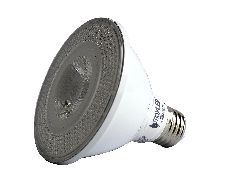 MaxLite 12P30DLED30NF 12W Dimmable Par30 Short Neck 3000K Narrow Flood LED Light Bulb