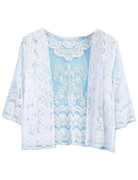 Sheinside - Camisas - para mujer blanco talla única