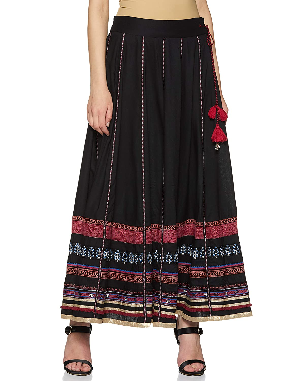 Black W for Woman Women's Full Flared Skirt