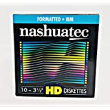 """Nashuatec High Density HD 2-Sided 3.5"""" Diskette Formatted 10 Diskettes Per Pack For Storage Data"""
