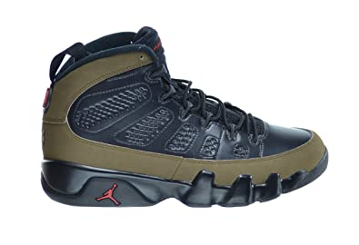 033c1c2953f Jordan Air 9 Retro Men's Basketball Shoes Black/Varsity Red-Light Olive  302370-
