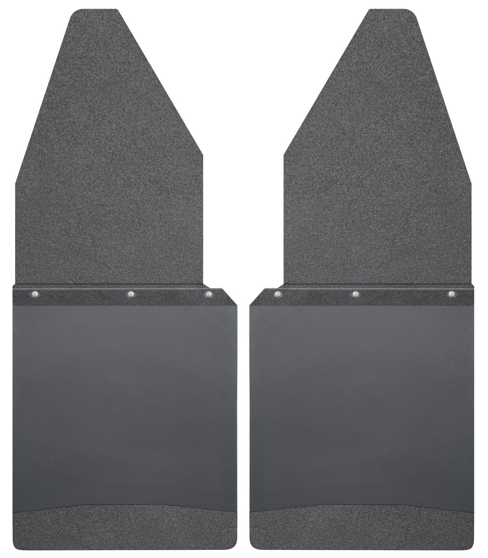 Husky Liners Kick Back Mud Flaps 12IN Wide - Black Top/Wt Fits 88-18 F150/250