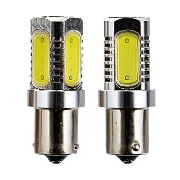2 piezas BA15S Extremadamente brillante 5-LED Luz de freno Señales de giro Bombillas Luz