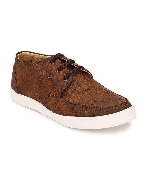 Peddeler Men's Brown Casual Shoes Men's Sneakers at amazon