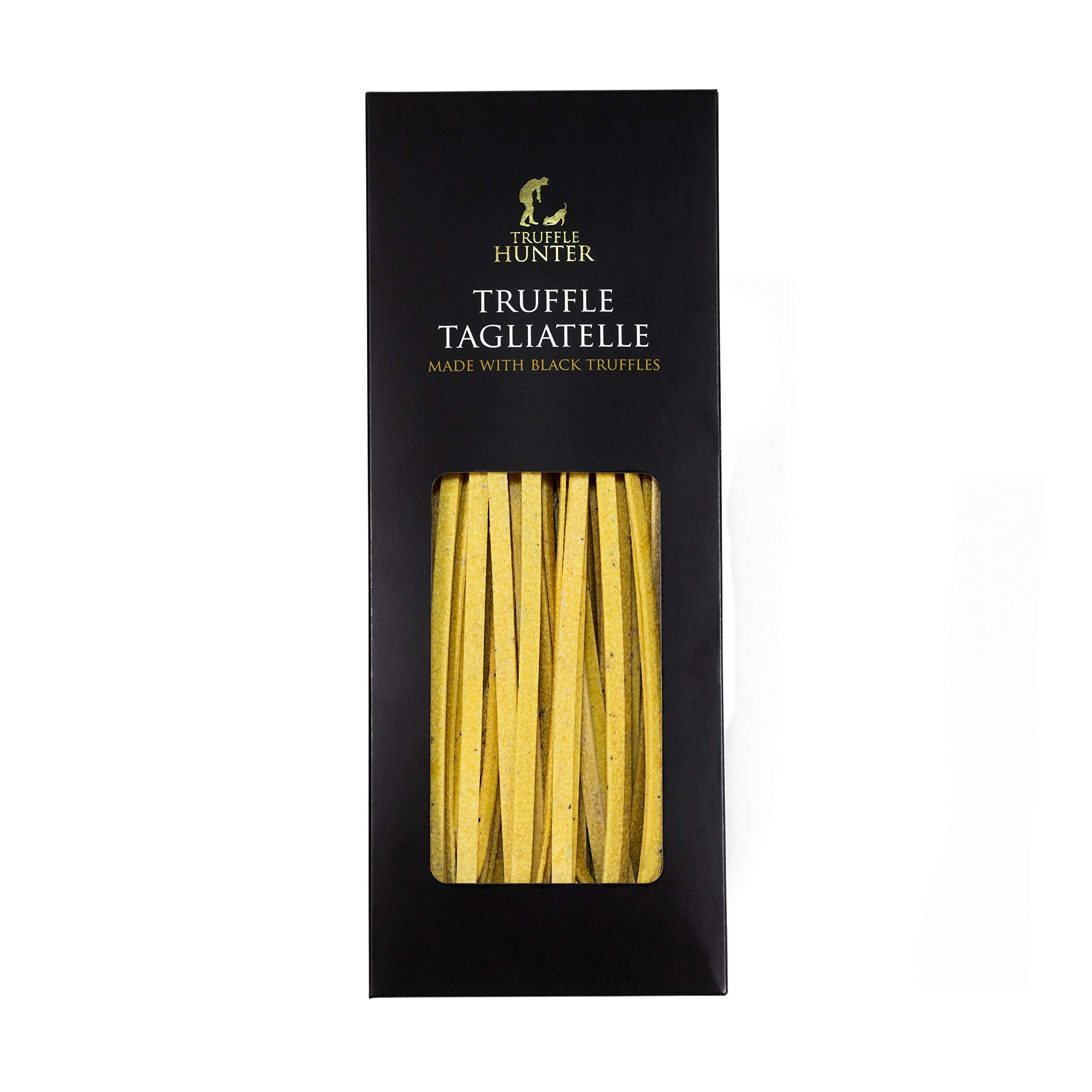 Black Truffle Tagliatelle Pasta (250g) in a Gift Box by TruffleHunter - Made by an Expert Pasta Chef - Luxury