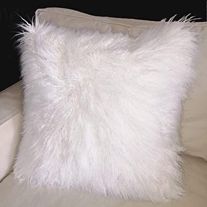 Amazon Com Kyrahome 20x20 Inches Decorative Faux Fur Throw Pillow