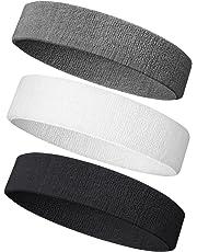 Sweatband Headband/Wristband Terry Cloth Athletic Headbands Fits for Men and Women