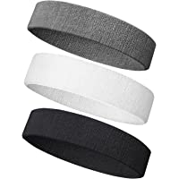 Sweatband Headband/Wristband Terry Cloth Athletic Headbands Fits for Men and Women