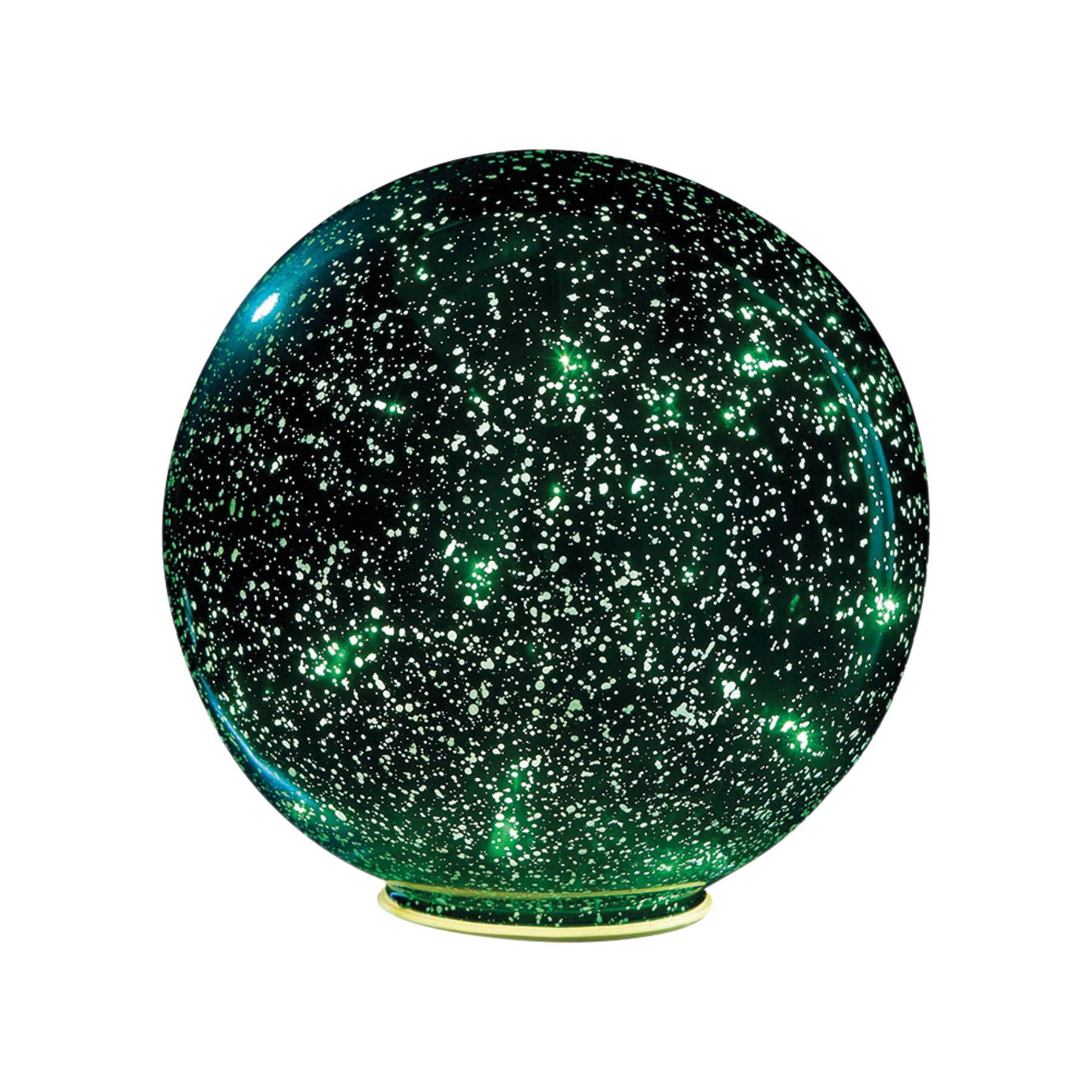 SIGNALS Lighted Mercury Glass Ball Sphere - Green - Large