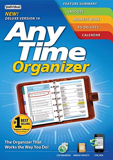 Amazoncom Individual Software Anytime Organizer Deluxe 14