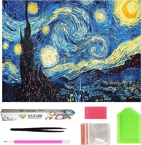 Full 5D Drill Starry Sky Diamond Painting Cross Stitich Stitch Kits Home Decor