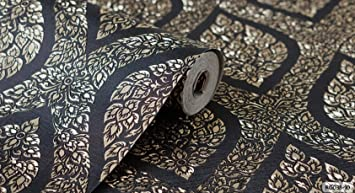 Pranakorn Dark Blue Color Wallpaper Adhesive Linethai