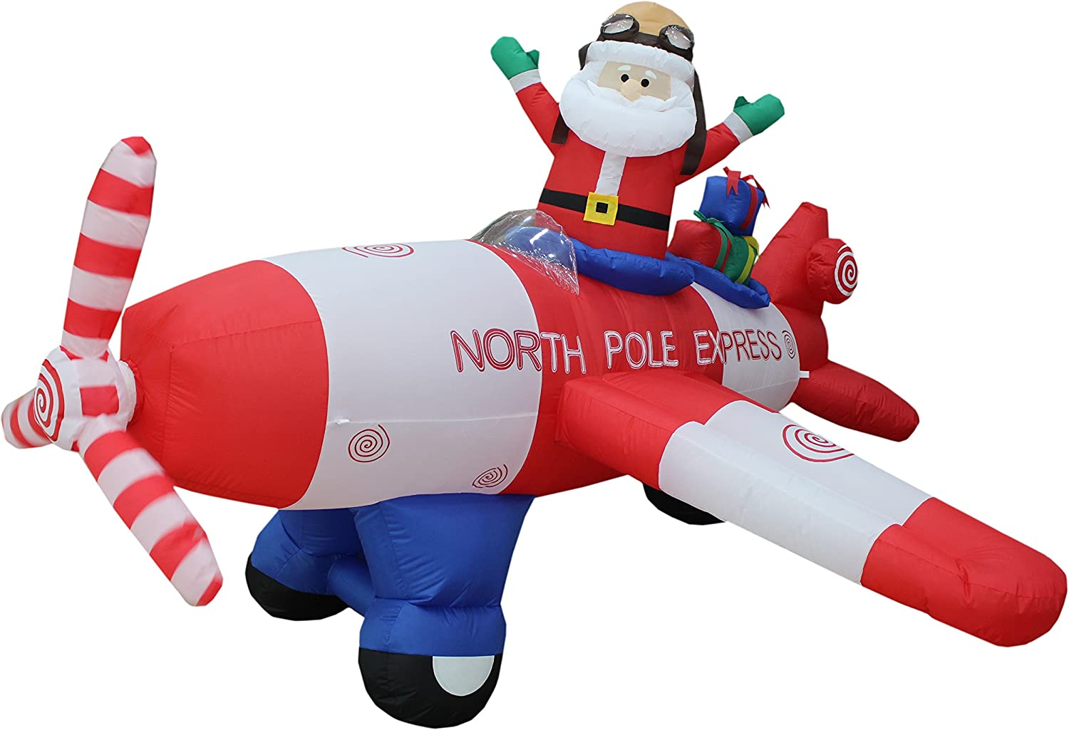 Santa Claus Airplanes and Helicopter Outdoor Inflatables