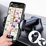[Ultra Sturdy & Durable] 4 in 1 Cell Phone Mount for Car & Truck [Hands Free Navigation] Dashboard Windshield Air Vent Desk A