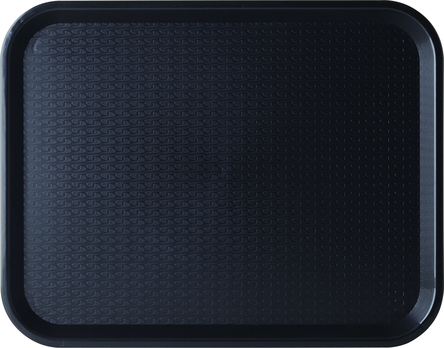 Carlisle CT141803 Café Standard Cafeteria / Fast Food Tray, 14'' x 18'', Black (Pack of 12)