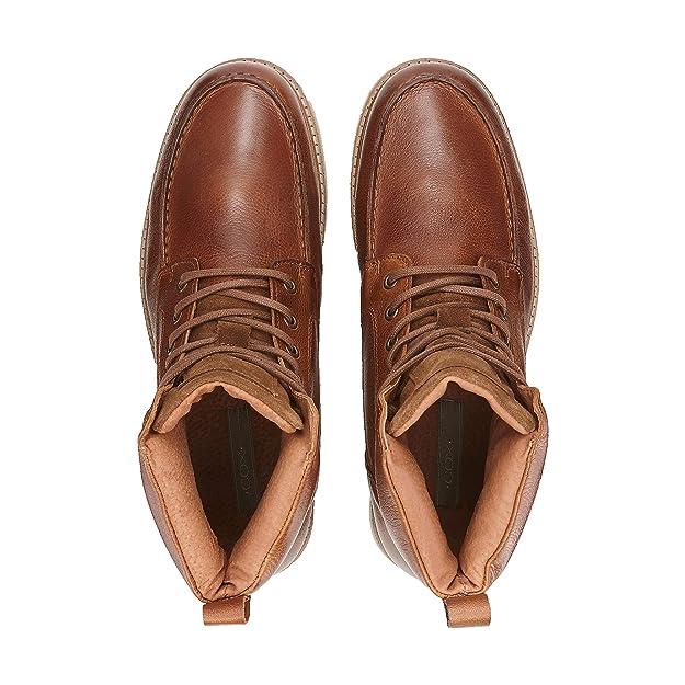 Cox Herren Herren Schnür Boots aus Leder, Stiefel in Braun