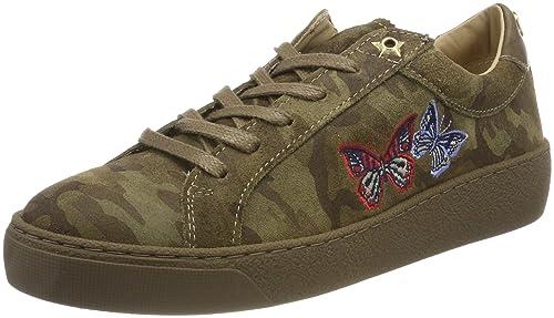 Tommy Hilfiger Lo S1285uzie 12z, Zapatillas para Mujer, Verde (Camo), 36 EU