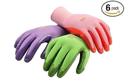 G U0026 F 15226M Womenu0027s Garden Gloves, Nitrile Coated Work Gloves, Assorted  Colors.
