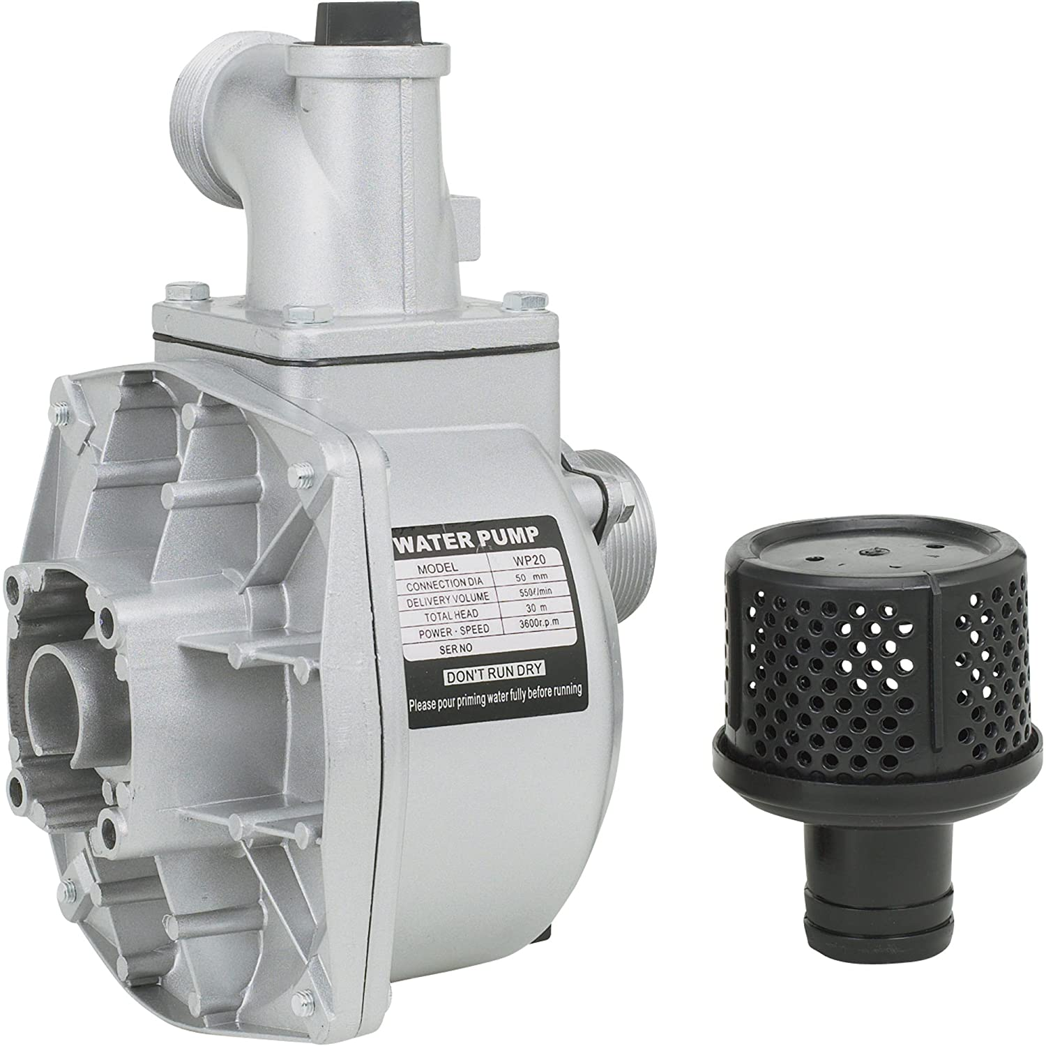 2in Ports for Threaded Shafts 7,860 GPH Semi-Trash Water Pump ONLY