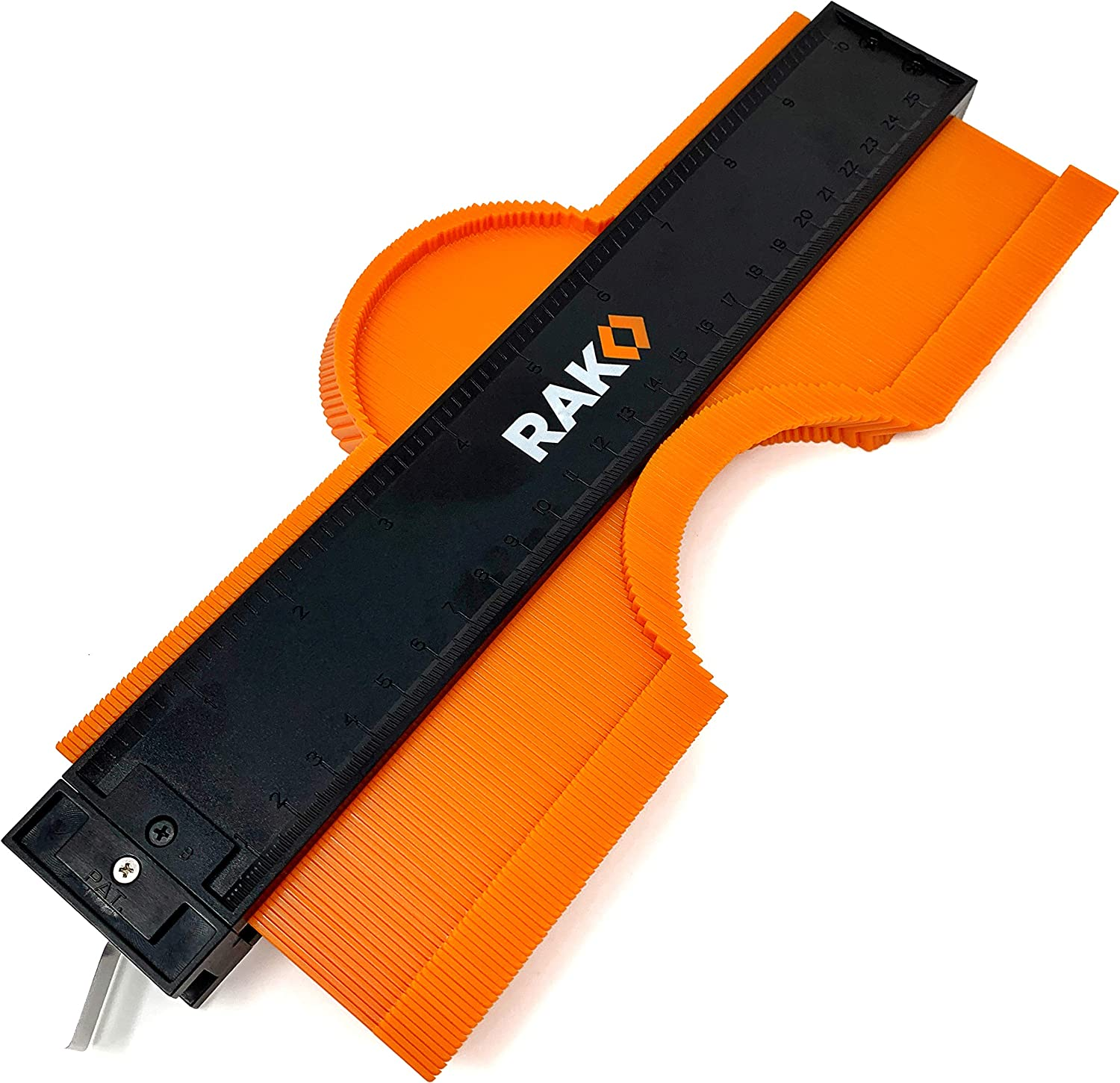 RAK Contour Gauge Shape Duplicator (10 Inch Lock) Template Tool with Adjustable Lock Precisely Copies Irregular and Awkward Shapes - Must Have Tool for DIY Handyman, Construction