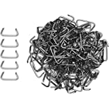 "1000 pcs 3/4"" Hog Rings (1000 Value Pack) Weather Resistant Galvanized Steel Perfect for Furniture Upholstery, Auto…"