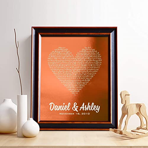 amazon com personalized 7th or 22nd copper anniversary gift for him