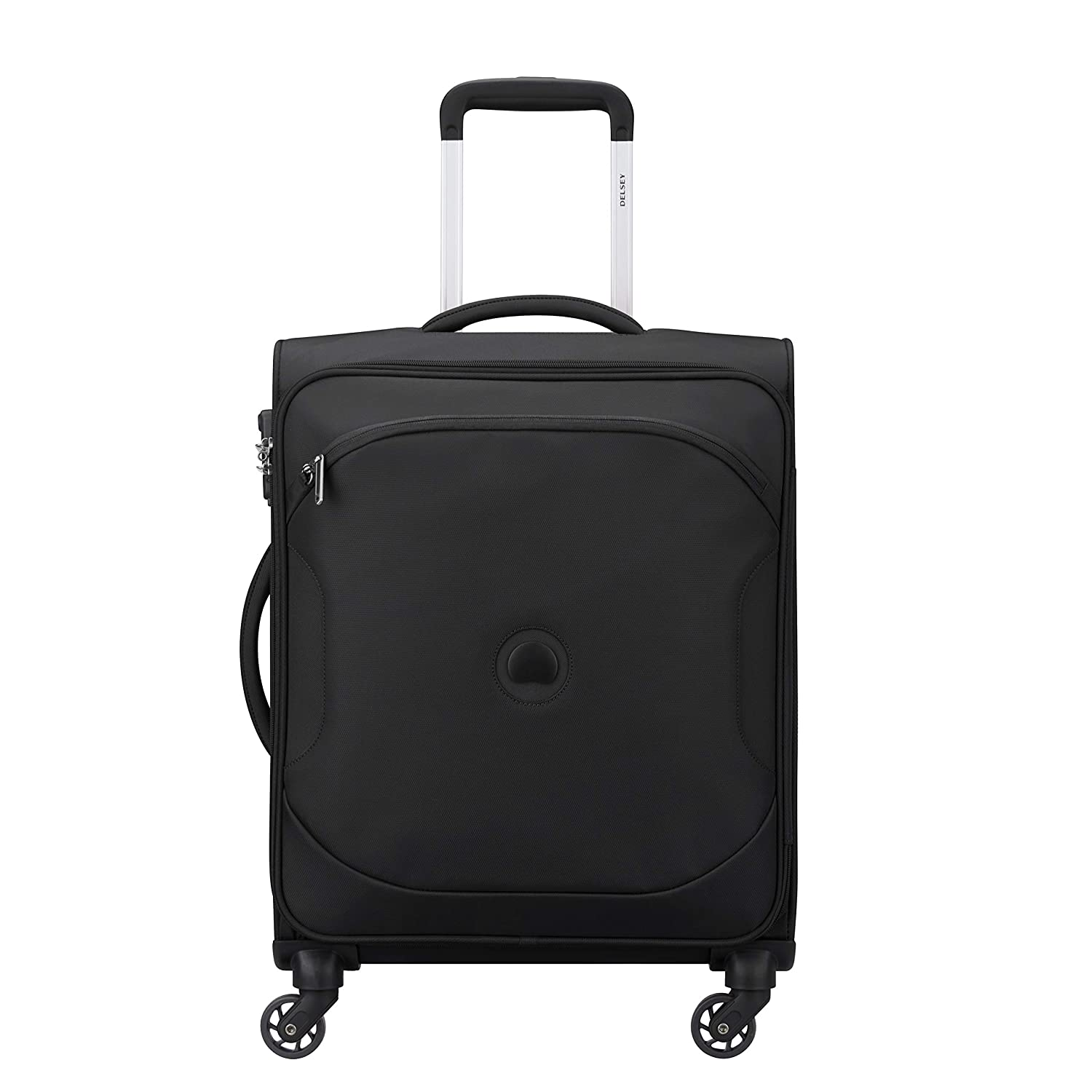 Delsey Polyester 68 Cms Black Softsided Check-In Luggage