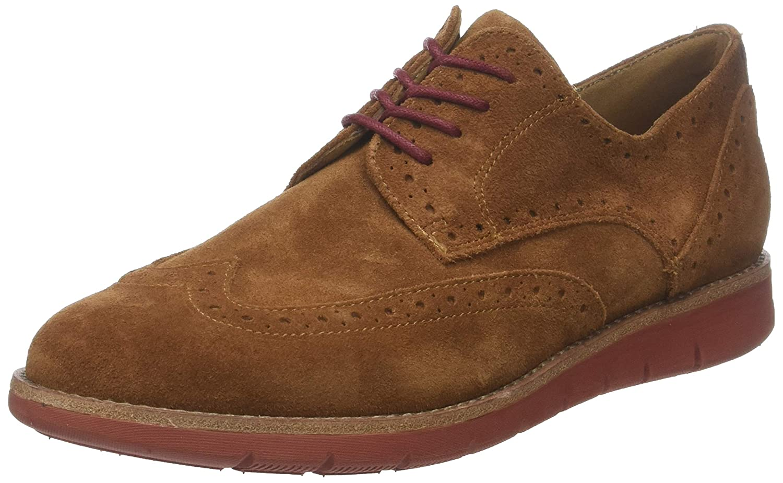 Schmoove Echo Suede, Zapatos de Cordones Brogue para Hombre