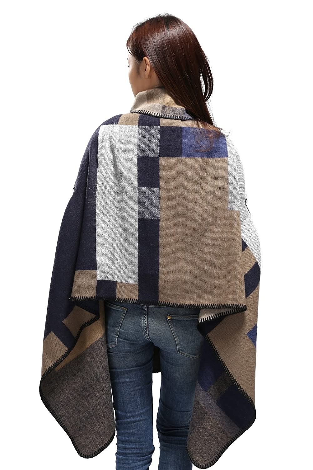 Women Poncho Scarf Shawl Office Wrap Christmas for Wife Girl Gift Pashmina Cape