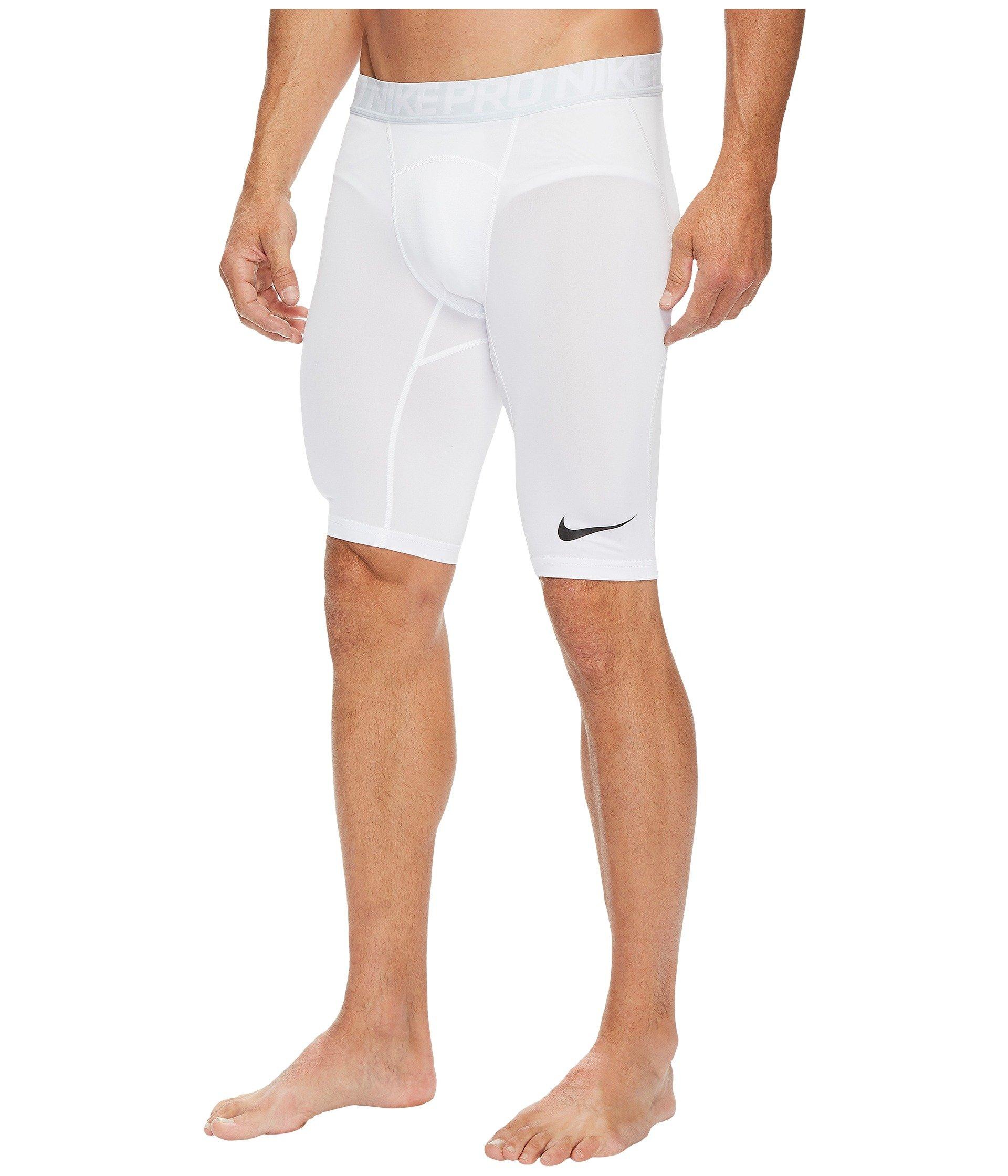 Nike Men's Pro Training Shorts, White/Pure Platinum/Black, Small by Nike (Image #3)