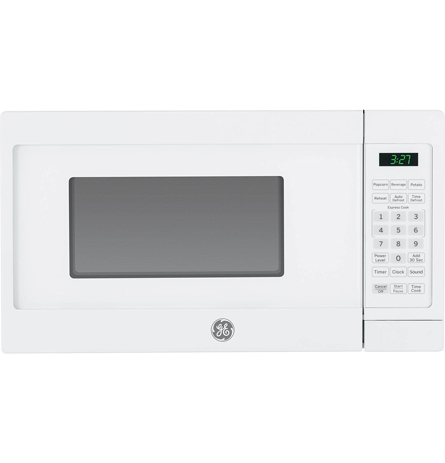 Ge JEM3072DHWW 0.7 Cu.Ft. Countertop Microwave Oven, White-632167.7 Cubic Ft White