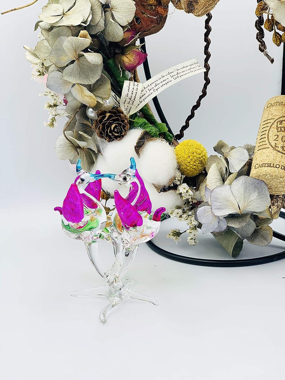Hummingbird Figurine Hand Blown Glass Sculpture