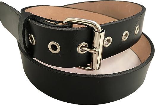 Handmade Mens Leather Belt Black Western Work Casual Belt 1.5 Wide