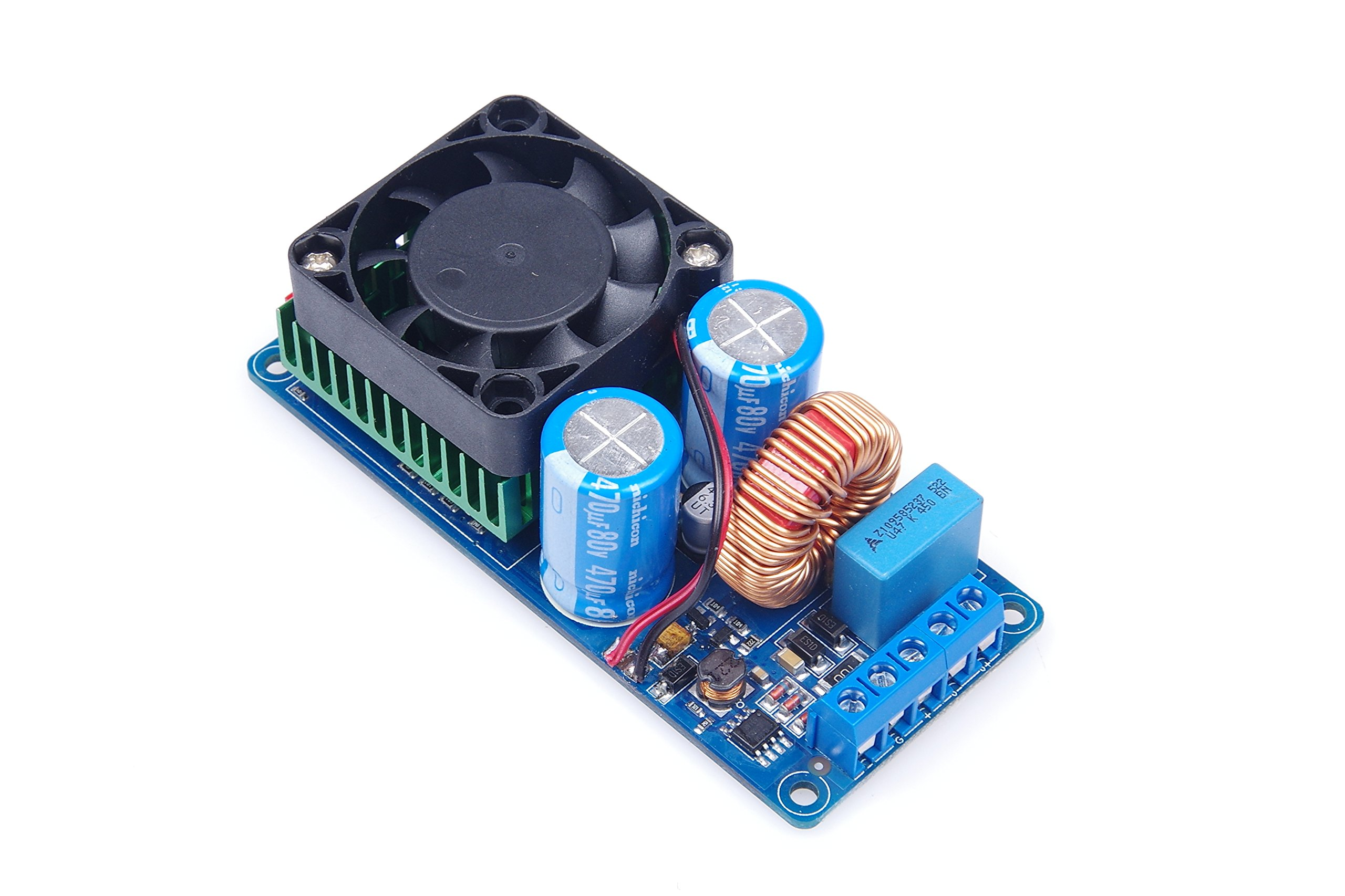 KNACRO 500W Mono HIFI Digital Amplifier Board IRS2092S Class D With Fan HIFI Power Amp Board by KNACRO