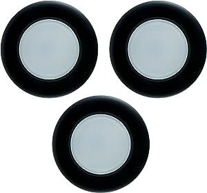 GE Enbrighten 34540 Puck Light, 3pk, Plug-in, Linkable, Black, Black, Black
