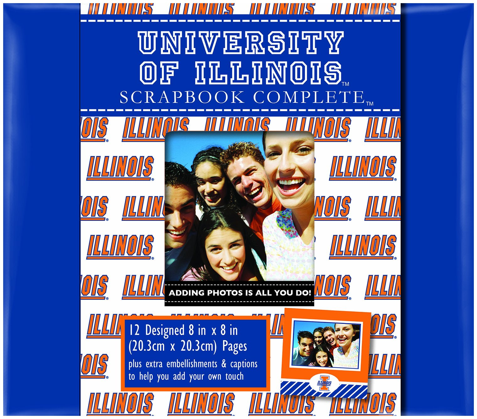 C.R. Gibson Scrapbook Complete Kit, Small, University of Illinois (C879256M)
