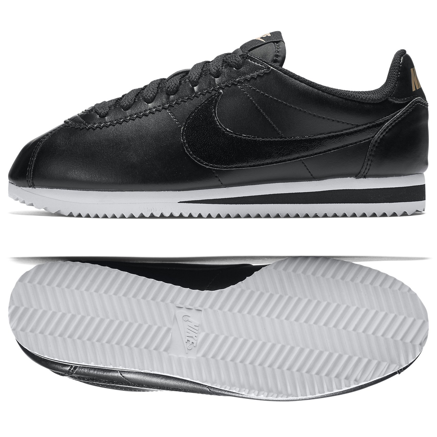huge discount 3ba9b fca1e Galleon - NIKE WMNS Classic Cortez Leather 807471-009 Black White Red  Bronze Women s Shoes (Size 8)