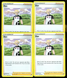 product image for Pokemon - Dan - Rebel Clash x4 Card Playset - 158/192 Uncommon