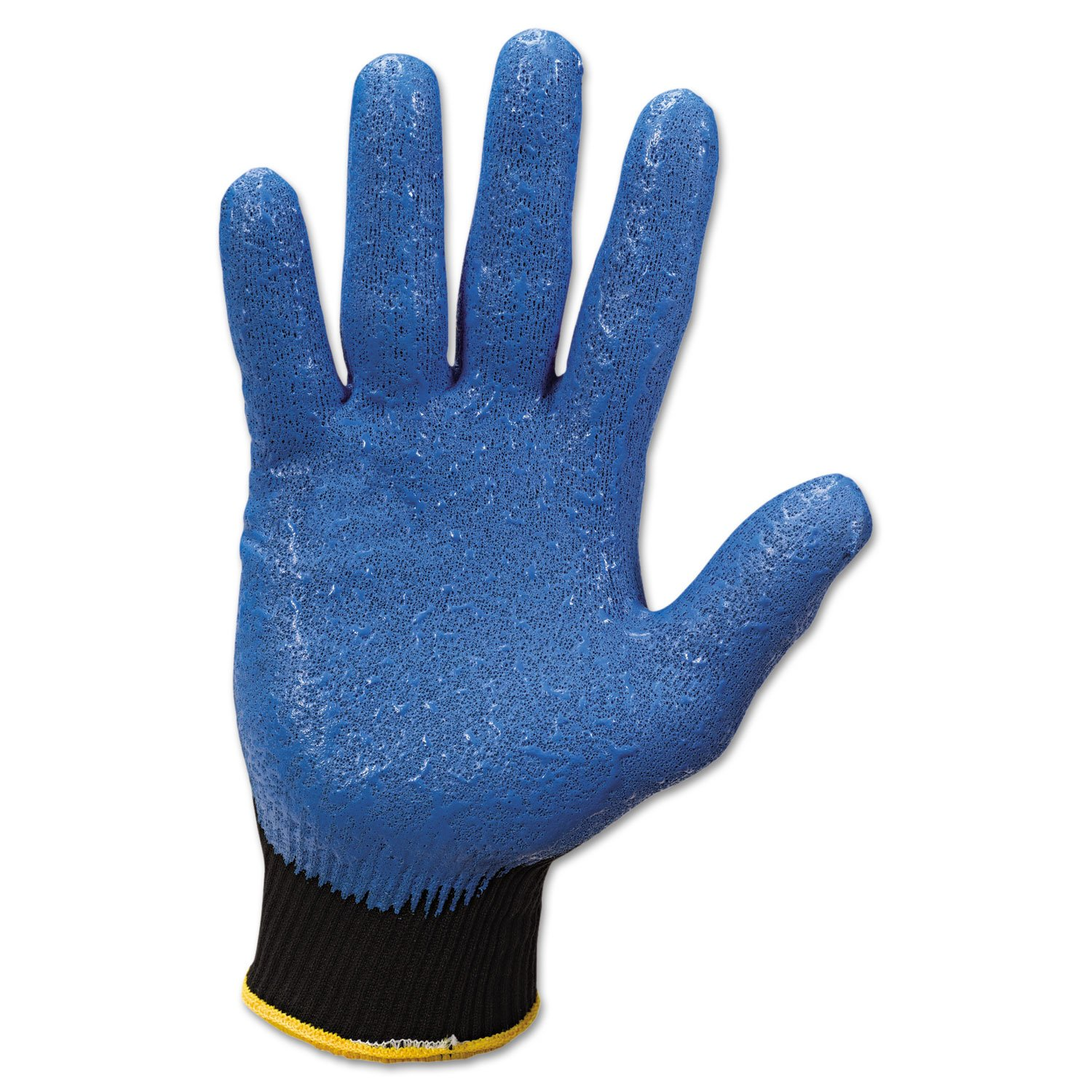 Jackson Safety 40227 G40 Nitrile Coated Gloves, 240 mm Length, Large/Size 9, Blue (Pack of 12 Pairs)