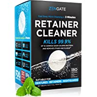Retainer & Denture Cleaner Tablets - 4 Months Supply (120 pcs) - 3 Min Cleaning of Retainers & Aligner - Dental Cleaners…