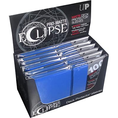 Ultra Pro Pro-Matte Eclipse Pacific Blue Standard Size Sleeves Box [6 packs/600 total sleeves]: Toys & Games