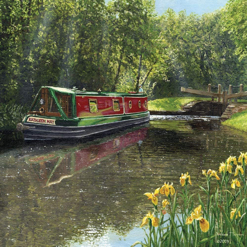 Stationery Narrowboat Any Occasion  Glossy print- Celebration Birthday Canal Unique Design boat man THE BOATMAN  Greetings Card