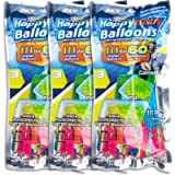 Water Balloons, 3 Bags 9 Bunches 333 Balloons Multicolored Quick Fill Self-Tie Water Balloon Summer Splash Fun for Kids…