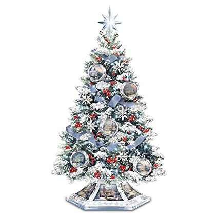 Image Unavailable. Image not available for. Color: Thomas Kinkade Musical  Christmas Tabletop Tree ... - Amazon.com: Thomas Kinkade Musical Christmas Tabletop Tree With