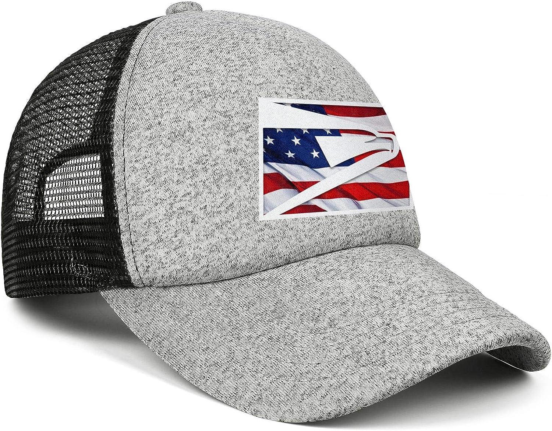 AOAOAOUV Men Unisex Adjustable United-States-Postal-Service-3D-effect-flag-logo-Baseball Caps Sports Flat Hat