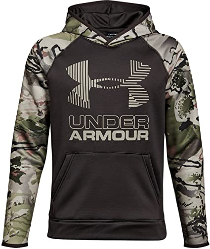 Under Armour Outerwear Boys Storm Armour Fleece Camo Hoodie, Cannon (923)/Desert