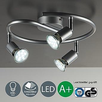 LED Deckenleuchte I Wohnzimmerlampe I Deckenlampe I 3 flammige LED ...