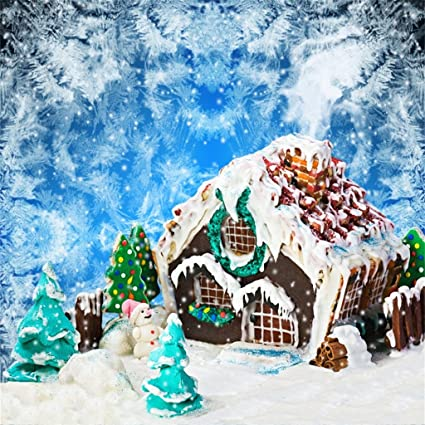 Christmas Gingerbread House Background.Aofoto 10x10ft Gingerbread House Photography Background Christmas Backdrop Snowflake Abstract New Year Tree Kid Artistic Portrait Holiday Photoshoot