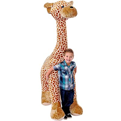 CUDDALICIOUS 72 Inch Jumbo Plush Giraffe- 6 Feet Tall Stuffed Animal Toy for Room Decor, and Child Play: Toys & Games
